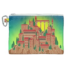 Mountain Village Village Medieval Canvas Cosmetic Bag (xl)