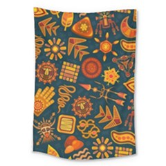 Pattern Background Ethnic Tribal Large Tapestry