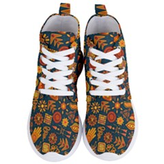 Pattern Background Ethnic Tribal Women s Lightweight High Top Sneakers