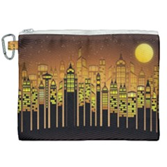 Buildings Skyscrapers City Canvas Cosmetic Bag (xxl)