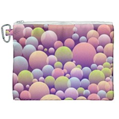 Abstract Background Circle Bubbles Canvas Cosmetic Bag (xxl)