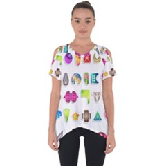 Shapes Abstract Set Pack Cut Out Side Drop Tee