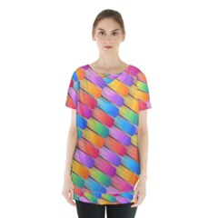 Colorful Background Abstract Skirt Hem Sports Top by Wegoenart