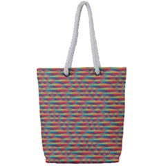 Background Abstract Colorful Full Print Rope Handle Tote (small)