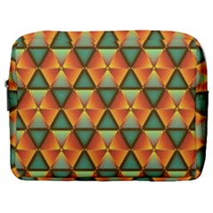 Background Triangle Abstract Golden Make Up Pouch (large) by Wegoenart