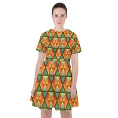 Background Triangle Abstract Golden Sailor Dress