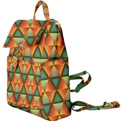 Background Triangle Abstract Golden Buckle Everyday Backpack by Wegoenart