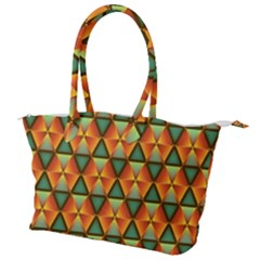 Background Triangle Abstract Golden Canvas Shoulder Bag