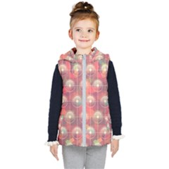 Colorful Background Abstrac Pattern Kids  Hooded Puffer Vest