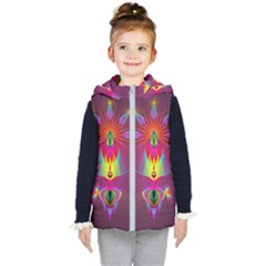 Abstract Bright Colorful Background Kids  Hooded Puffer Vest by Wegoenart