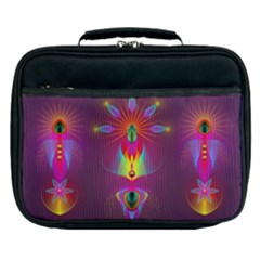 Abstract Bright Colorful Background Lunch Bag