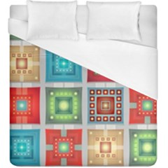 Tiles Pattern Background Colorful Duvet Cover (king Size)