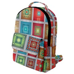 Tiles Pattern Background Colorful Flap Pocket Backpack (small) by Wegoenart