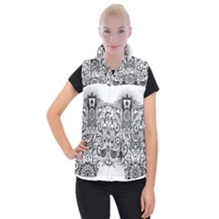 Forest Patrol Tribal Abstract Women s Button Up Vest