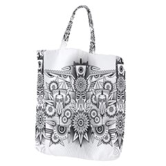 Forest Patrol Tribal Abstract Giant Grocery Tote