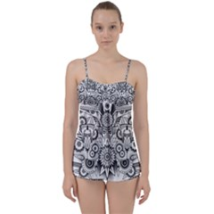 Forest Patrol Tribal Abstract Babydoll Tankini Set