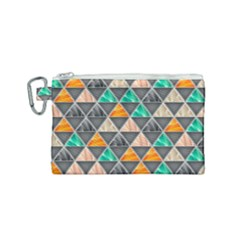 Abstract Geometric Triangle Shape Canvas Cosmetic Bag (small)