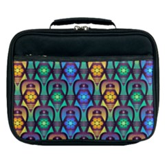 Pattern Background Bright Blue Lunch Bag