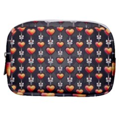 Love Heart Background Make Up Pouch (small) by Wegoenart