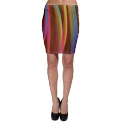 Abstract Background Colorful Bodycon Skirt