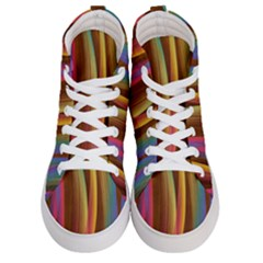 Abstract Background Colorful Men s Hi Top Skate Sneakers