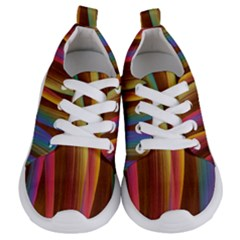 Abstract Background Colorful Kids  Lightweight Sports Shoes