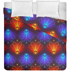 Light Background Colorful Abstract Duvet Cover Double Side (king Size)