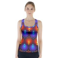 Light Background Colorful Abstract Racer Back Sports Top