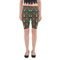 Pattern Background Bright Brown Yoga Cropped Leggings