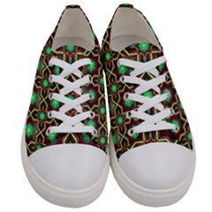 Pattern Background Bright Brown Women s Low Top Canvas Sneakers
