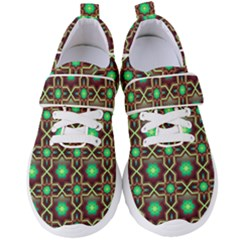 Pattern Background Bright Brown Women s Velcro Strap Shoes