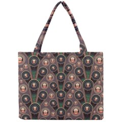 Background Abstract Pattern Green Mini Tote Bag