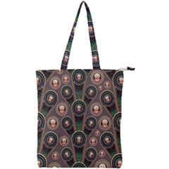 Background Abstract Pattern Green Double Zip Up Tote Bag