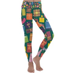Presents Gifts Background Colorful Kids  Lightweight Velour Classic Yoga Leggings by Wegoenart