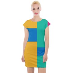 Unique Background Abstract Cap Sleeve Bodycon Dress by Wegoenart