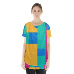 Unique Background Abstract Skirt Hem Sports Top