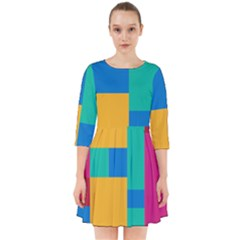 Unique Background Abstract Smock Dress