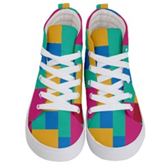 Unique Background Abstract Kids  Hi Top Skate Sneakers