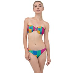 Unique Background Abstract Classic Bandeau Bikini Set by Wegoenart