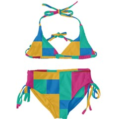 Unique Background Abstract Kids  Classic Bikini Set