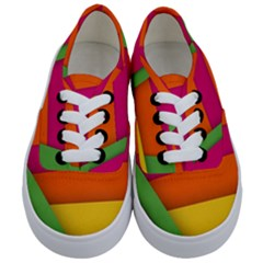 Background Abstract Kids  Classic Low Top Sneakers
