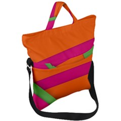 Background Abstract Fold Over Handle Tote Bag