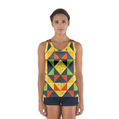 Background Geometric Color Sport Tank Top