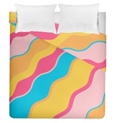 Cake Color Palette Painting Duvet Cover Double Side (queen Size)