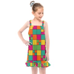 Abstract Background Abstract Kids  Overall Dress