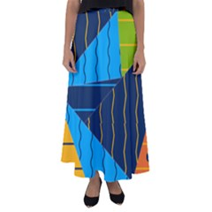Background Wallpaper Colors Color Flared Maxi Skirt