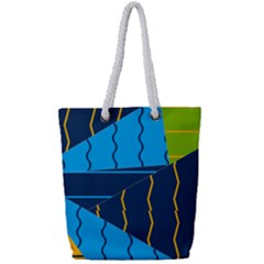 Background Wallpaper Colors Color Full Print Rope Handle Tote (small)