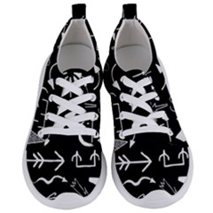 Arrows Vector Lines Strokes White Women s Lightweight Sports Shoes