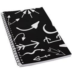 Arrows Vector Lines Strokes White 5 5  X 8 5  Notebook by Wegoenart
