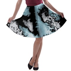 Winter Fractal 4 A Line Skater Skirt